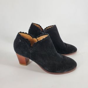 JACK ROGERS Marianne Scalloped suede bootie 6.5